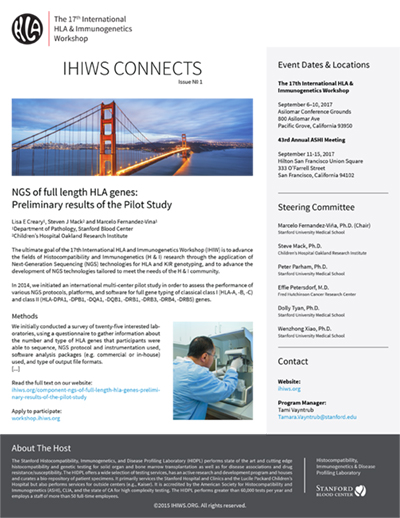 IHIWS CONNECTS, Issue No.1